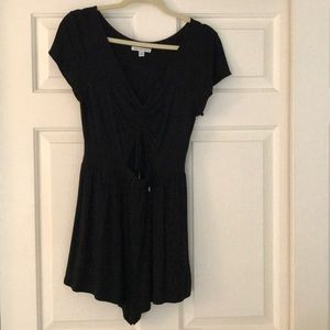 Cute black romper with key hole in front